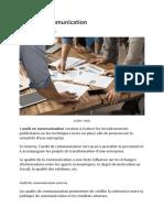 Audit de Communication Externe Et Interne_12 11 2018