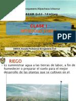 Clase 1 - I-proy Riego