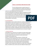 Cultura Tributaria y La Conciencia Tributaria en El Perú
