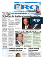 Baltimore Afro-American Newspaper, October 16, 2010