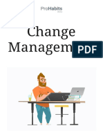 Change Management HABITS FOR ORGANIZATION
