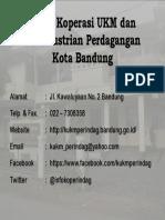 Biodata Dinas KUKM Perindag