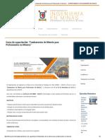 """Curso de Capacitación_ """"Fundamentos de Minería Para Profesionales No Mineros"""" – DEPARTAMENTO de INGENIERÍA en MINAS"""
