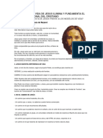 El Proyecto de Vida de Jesus Ilumina y Fundamenta El Proyecto Personal Del Cristiano