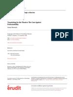 BASSNETT - Traduction, Terminologie, Rédaction PAG 99-111