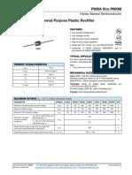 General Purpose Plastic Rectifier P600A Thru P600M - HEStore.hu