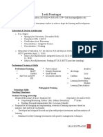 student teaching resume