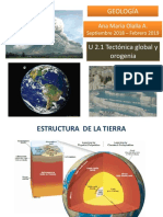2.1 Tectónica Global y Orogenia