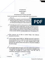 B.Tech 3rd Year Mechanical Engg Question Paper