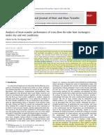 Analysis of Heat-transfer Performance of Cross