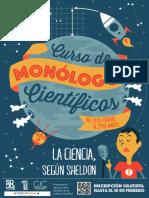 Flyer Curso de Monologos Cientificos
