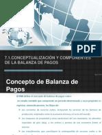 7.1 Conceptualización y Componentes de La Balanza de Pagos