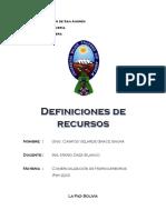 Definiciones de recursos