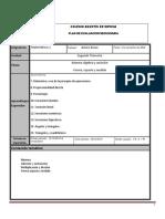 Plan de Evaluacion Matematicas 1A 1B SEGUNDO Trimestre 2018 2019