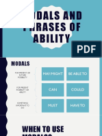 Modals and Phrases of Ability