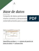 Base de Datos - Wikipedia, La Enciclopedia Libre
