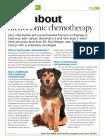 Veterinary Handout Metronomic Chemotherapy
