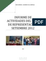 Informe de Viaje de Representacion Set2012