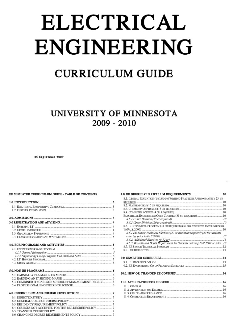 Electrical Engineering 4 Year Plan Umn Wiring Library Ecenew925eedegreeguide Signal