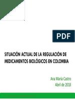 Biologicos y Biosimilares- Ana Maria Castro 2018