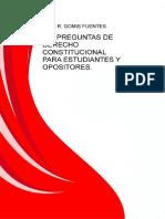 306 Preguntas de Derecho Constitucional Para Estudiantes y Opositores