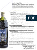Tahitian Noni Juice Clinical Trials