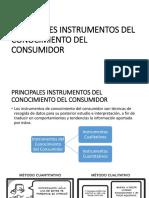 Principales Instrumentos Del Conocimiento Del Consumidor