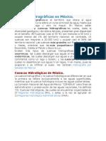Cuencas Hidrográficas en México.docx