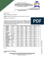 CIRCULAR No. 45 - Jornada de Permanencia - Primaria