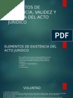 Elementos de Existencia, Validez y Eficacia