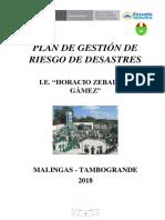 Plan de Gestión de Riesgo de Desastres 2018