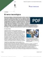 El Terror Tecnologico