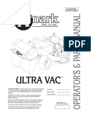Exmark Ultra Vac Operators & Parts Manual 103-4456 | Nut