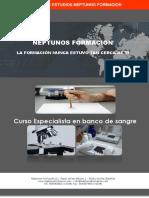 CURSO ESPECIALISTA EN BANCO DE SANGRE - NEPTUNOS FORMACION