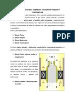 Efectos Producidos Sobre Los Packer Por Presion y Temperatura