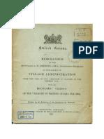 British Guiana Village Administration 1838 to 1903 Ashmore
