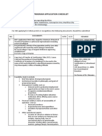 Ched Program Application Checklist