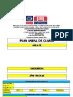 Plan Anual de Clases