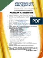 Celebración Por Xxv Aniversario de Fundación Del Instituto de Educación Superior Pedagógico