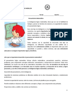 Documento Sobre Pensamiento Matematico
