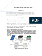 Sistema de Conversion de Panel Solar (Stand Alone)