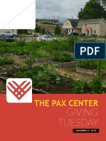 The Pax Center Giving Tuesday Brochure