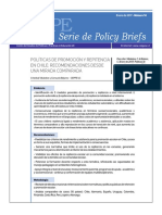 CEPPE N14-Politicas de Promocion y Repitencia en Chile-Recomendaciones Desde Una Mirada Comparada