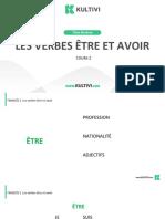 Aula2. Les Verbes Tre Et Avoir. Revisado.