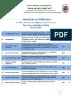 Lista deTesis de la Carrera de Contaduria Publica YACUIBA-BOLIVIA