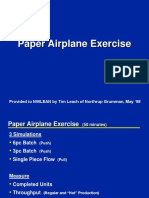 Paper Plane Exercise