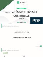 Aula18. Activités Sportives Et Culturelles