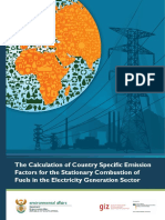 Calculation of Country Specific Emission Factors