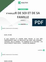 Aula17. Parlerde Soi Et de Sa Famille