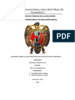 Informe de Estimulacion